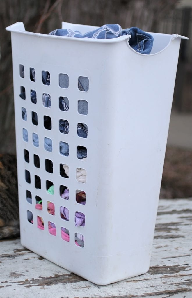 large family laundry basket