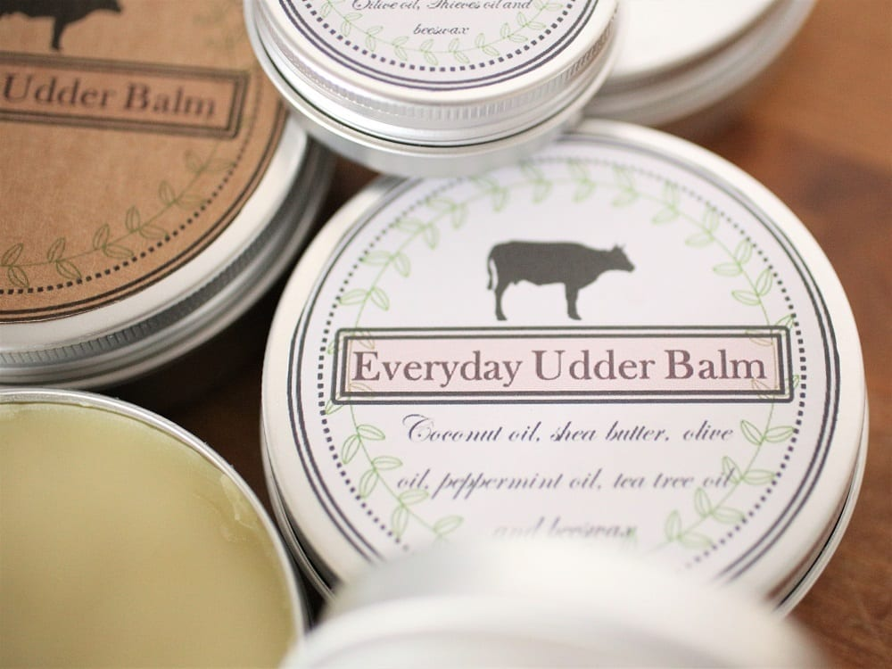One Udder Balm Recipe: Three Products, Plus Free Printable Labels!