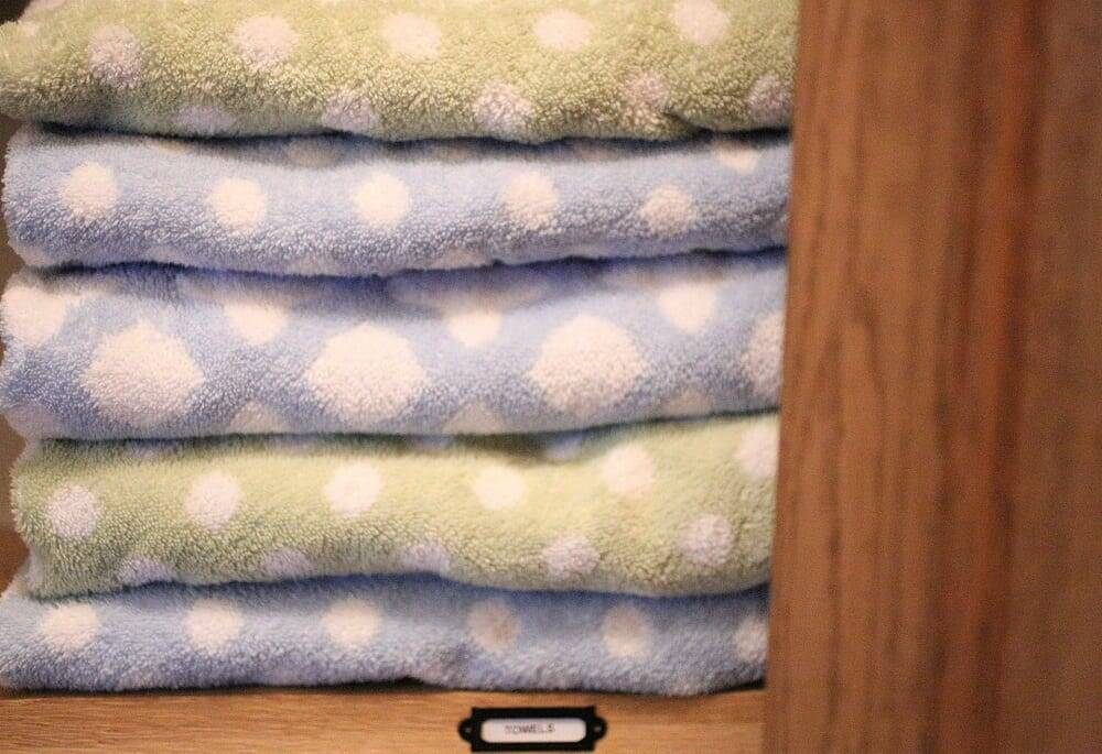 large family laundry towels
