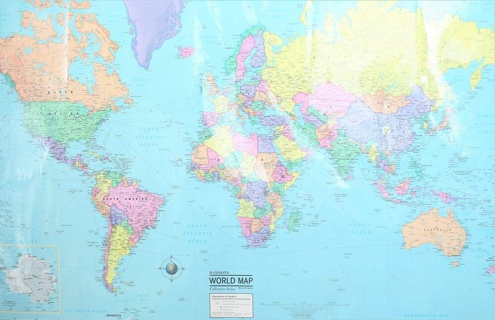 homeschool world map