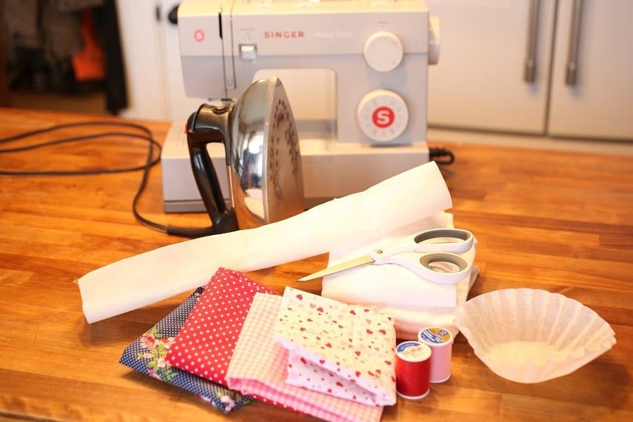 Valentine applique gather materials