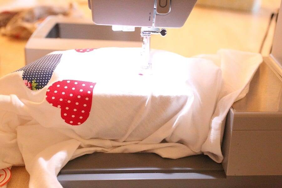Valentine Applique sewing