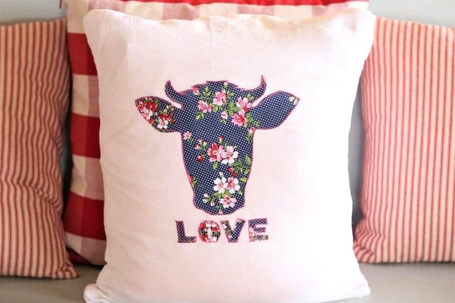 Valentine applique pillow