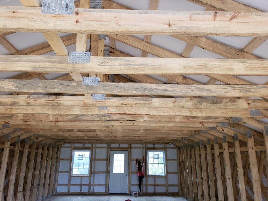 unfinished barn loft