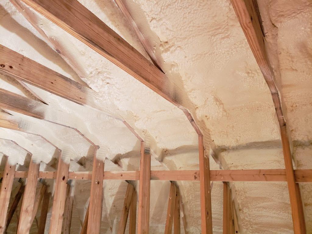 spray foam insulation in barn