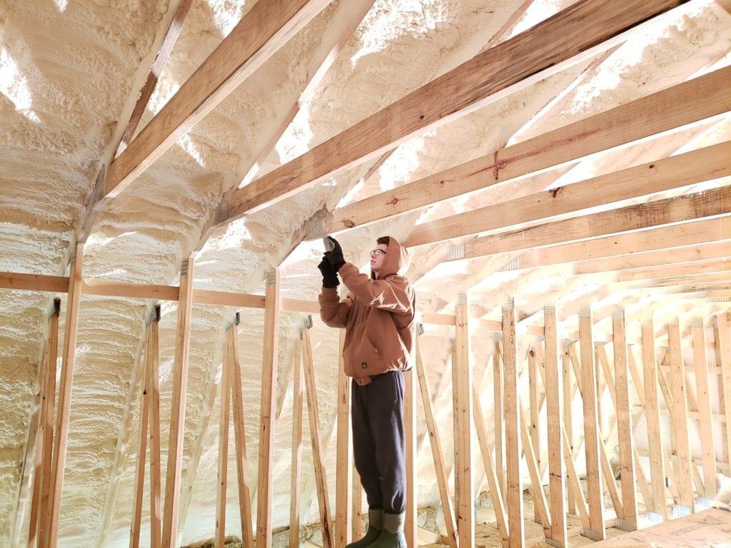 scraping insulation