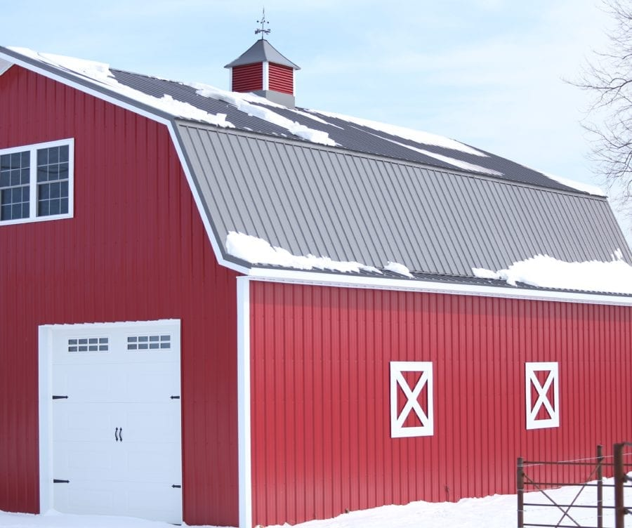 Putting Up Our Red Metal Barn Part One