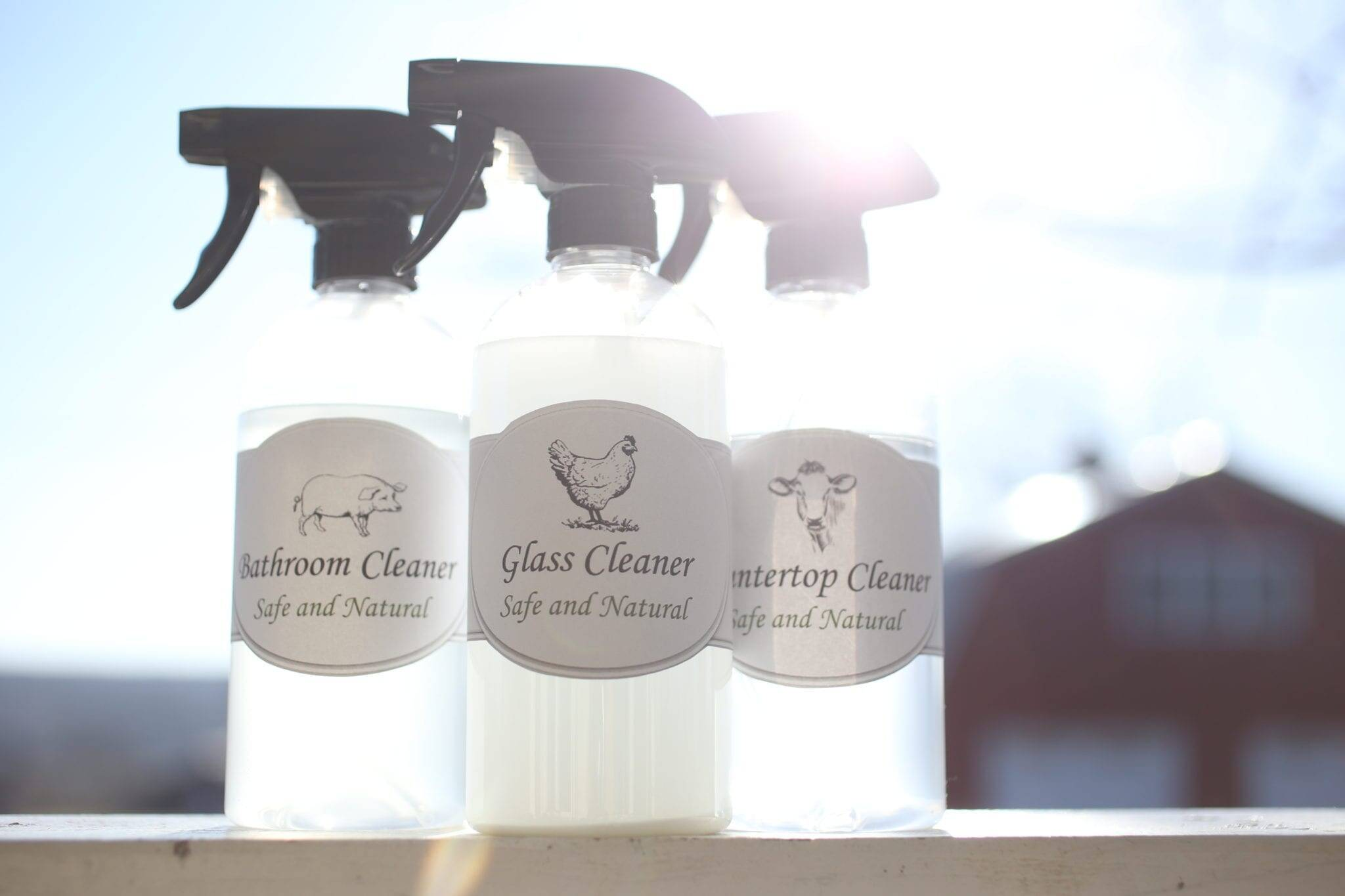 All Natural Cleaning Roundup–Plus Free Printable labels