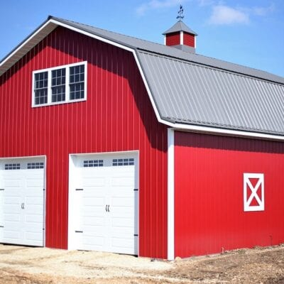 Our Red Metal Pole Barn Part Two