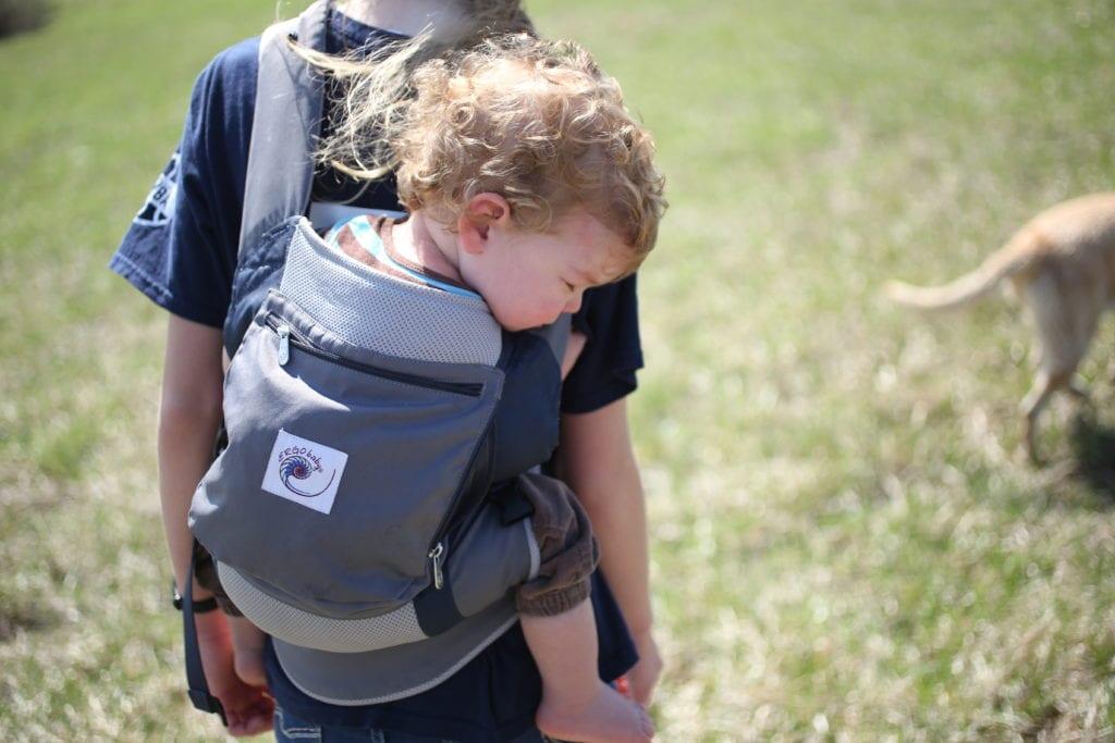 sleepy nature hiker