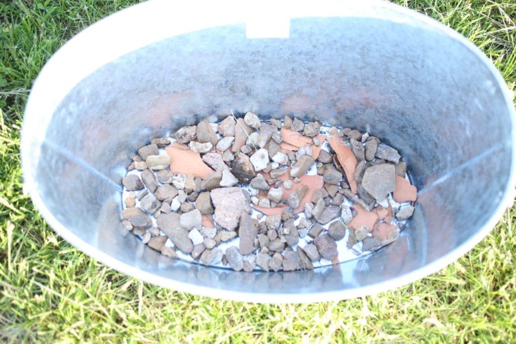 pebbles container drainage lavender