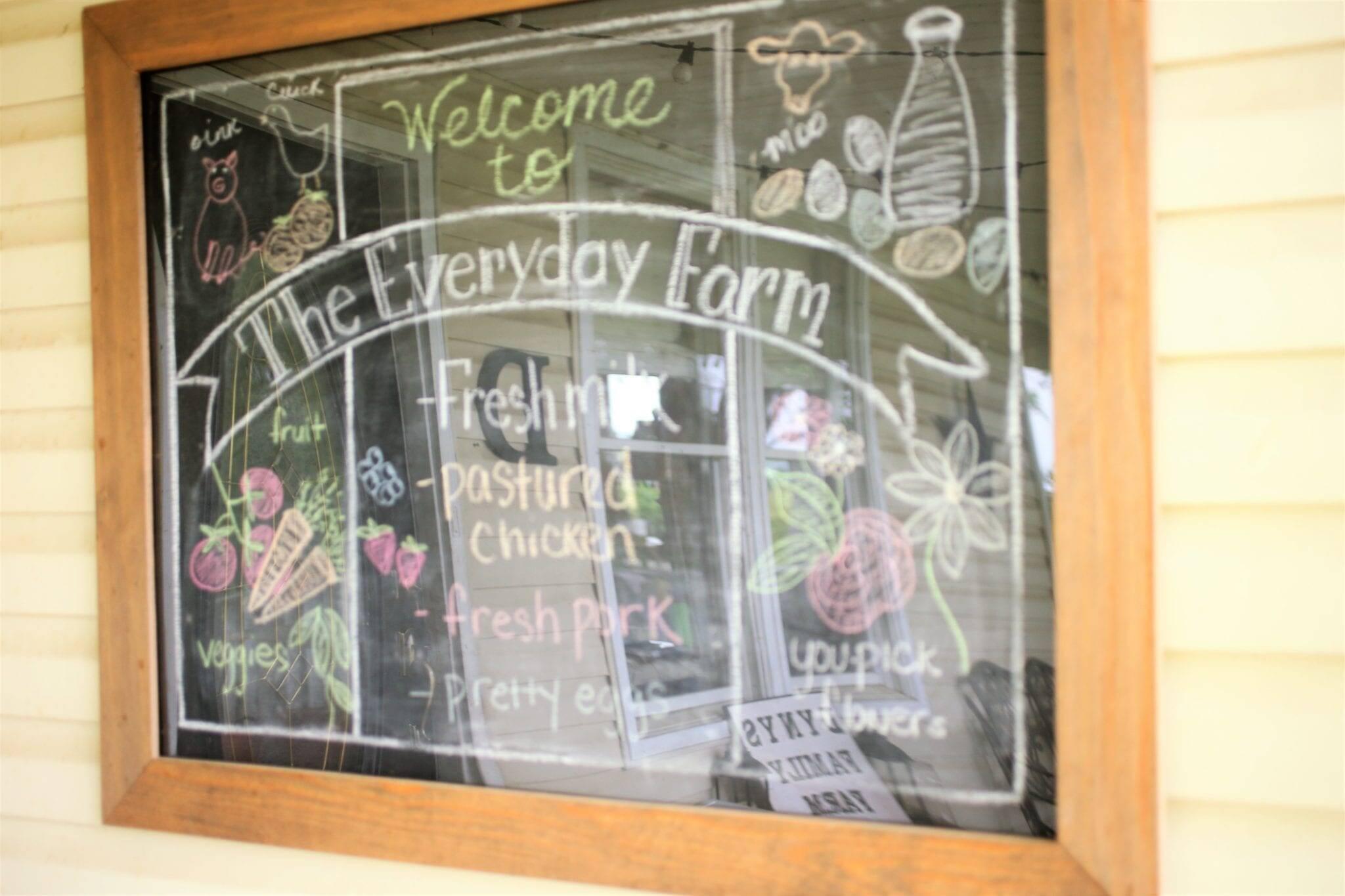 Farmhouse style chalkboard