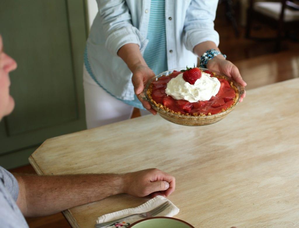 Father's Day treat fresh strawberry pie
