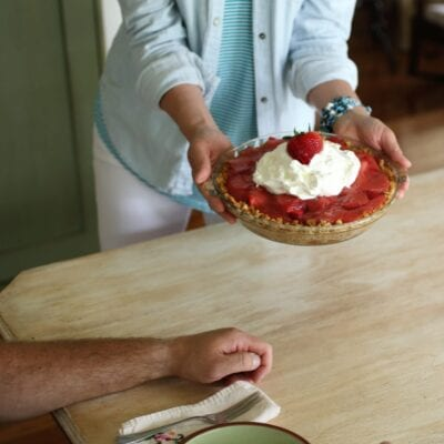 Father's Day Treat–Fresh Strawberry Pie