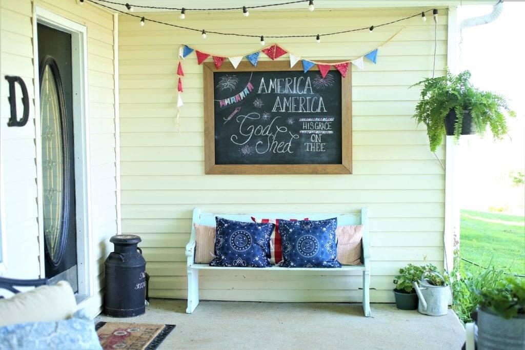 handkerchief pillows porch