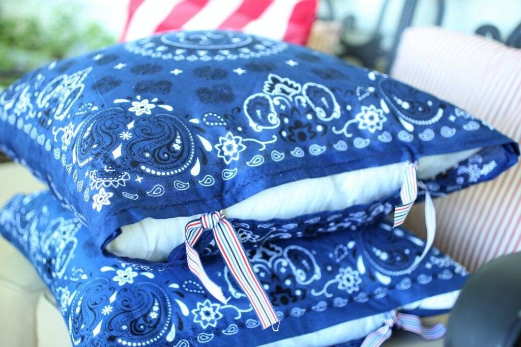 DIY handkerchief pillow covers