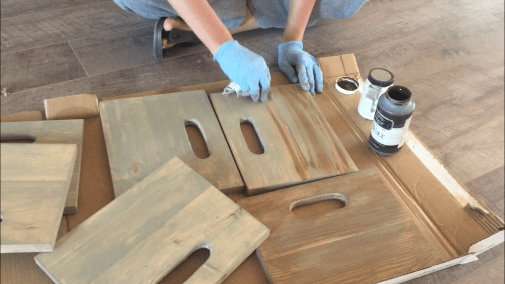 staining crate sides scrap