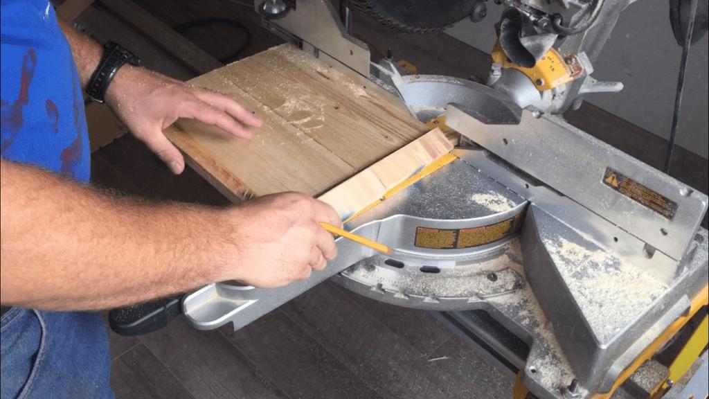 cutting scrap crate sides