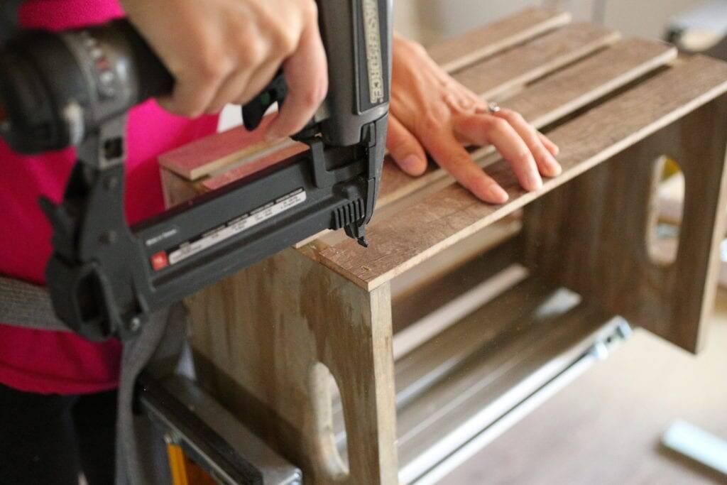 assembling crate scrap flooring
