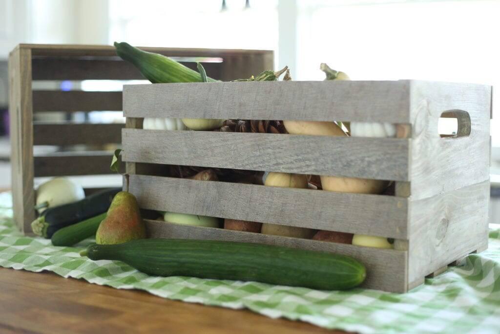 handmade crate from scrap flooring
