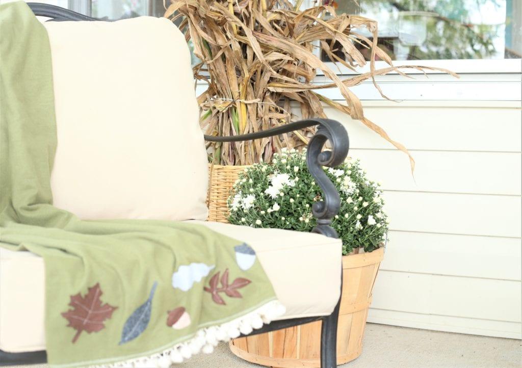 Fall Porch applique throw
