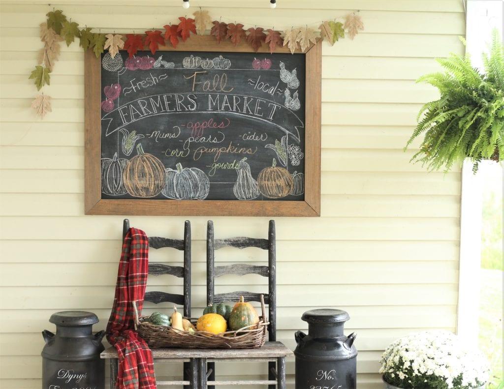 Fall Porch Chalkboard