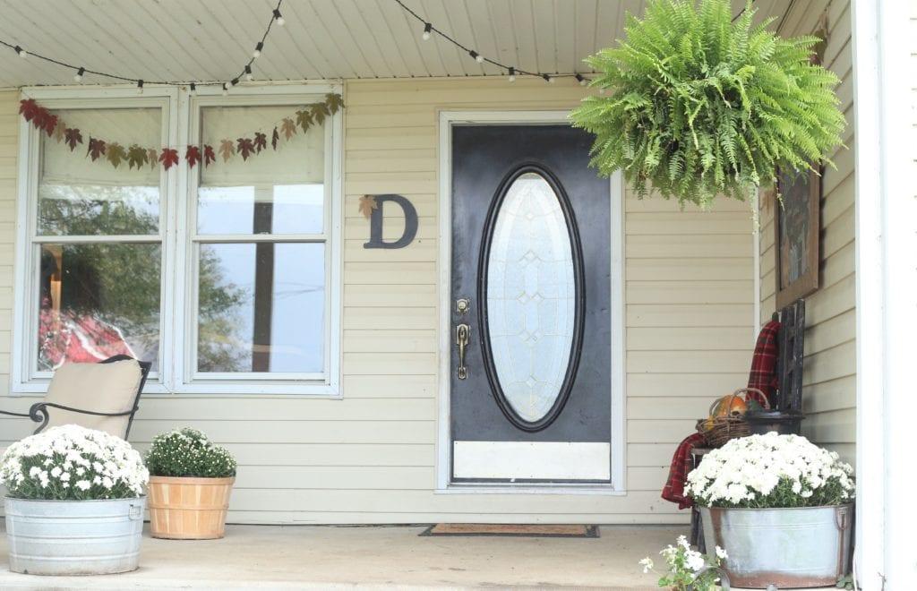 Fall Front Porch door