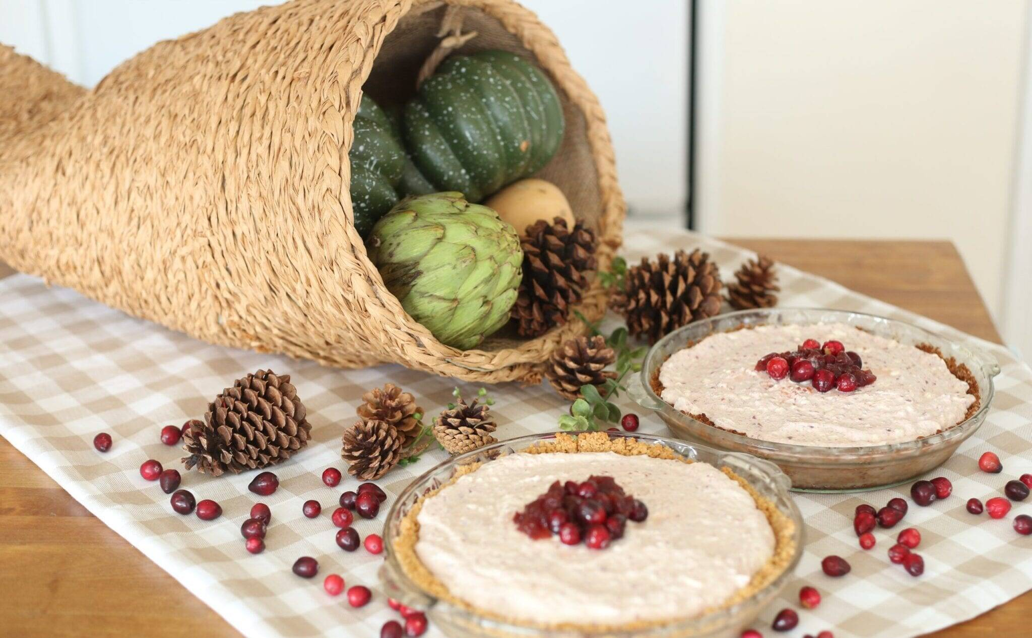 Cornucopia and cranberry pies