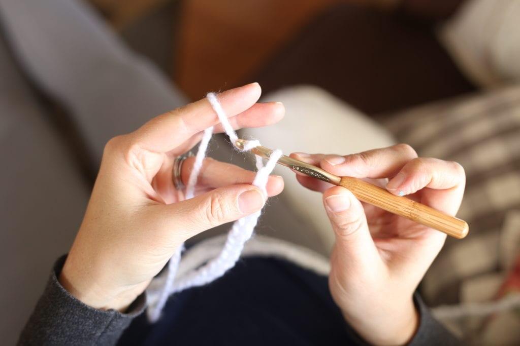 crocheting yarn