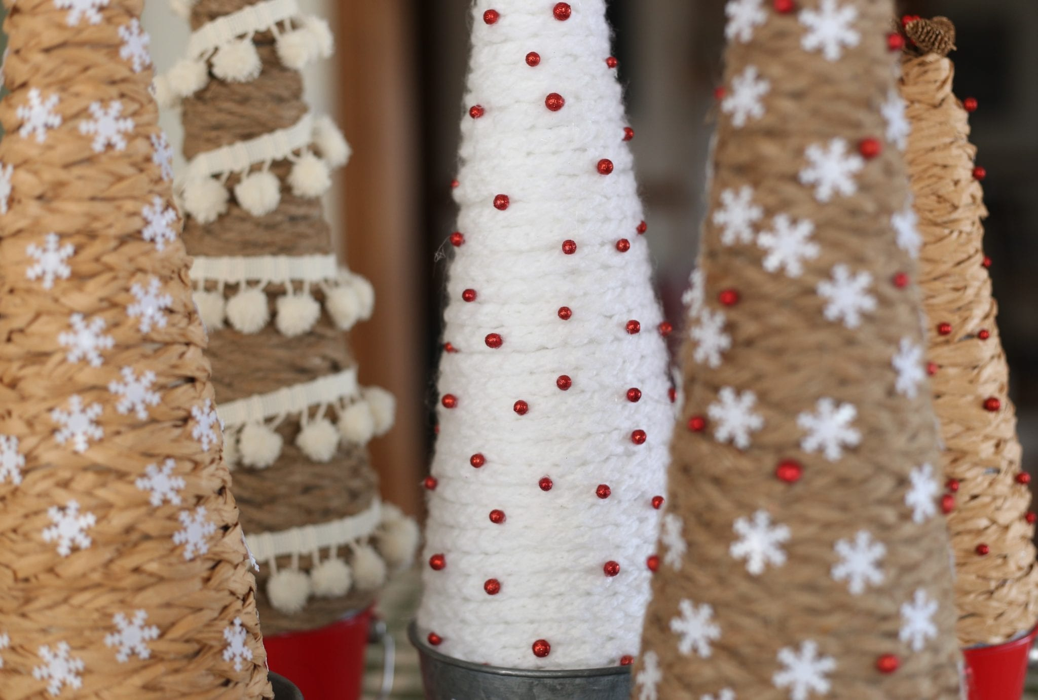 Natural Textured Handmade Trees–Three Ways