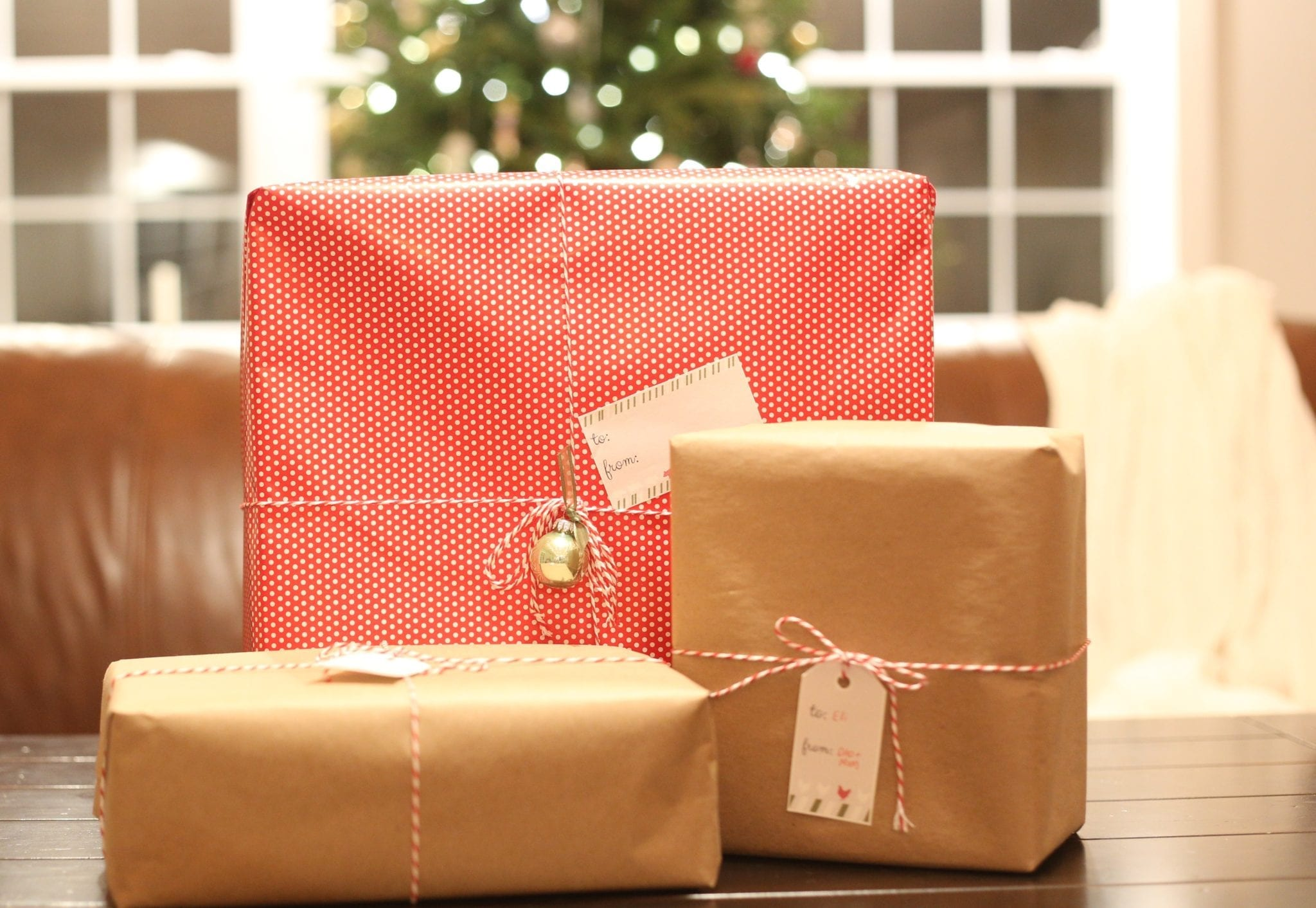 Wrapped Gifts with tags