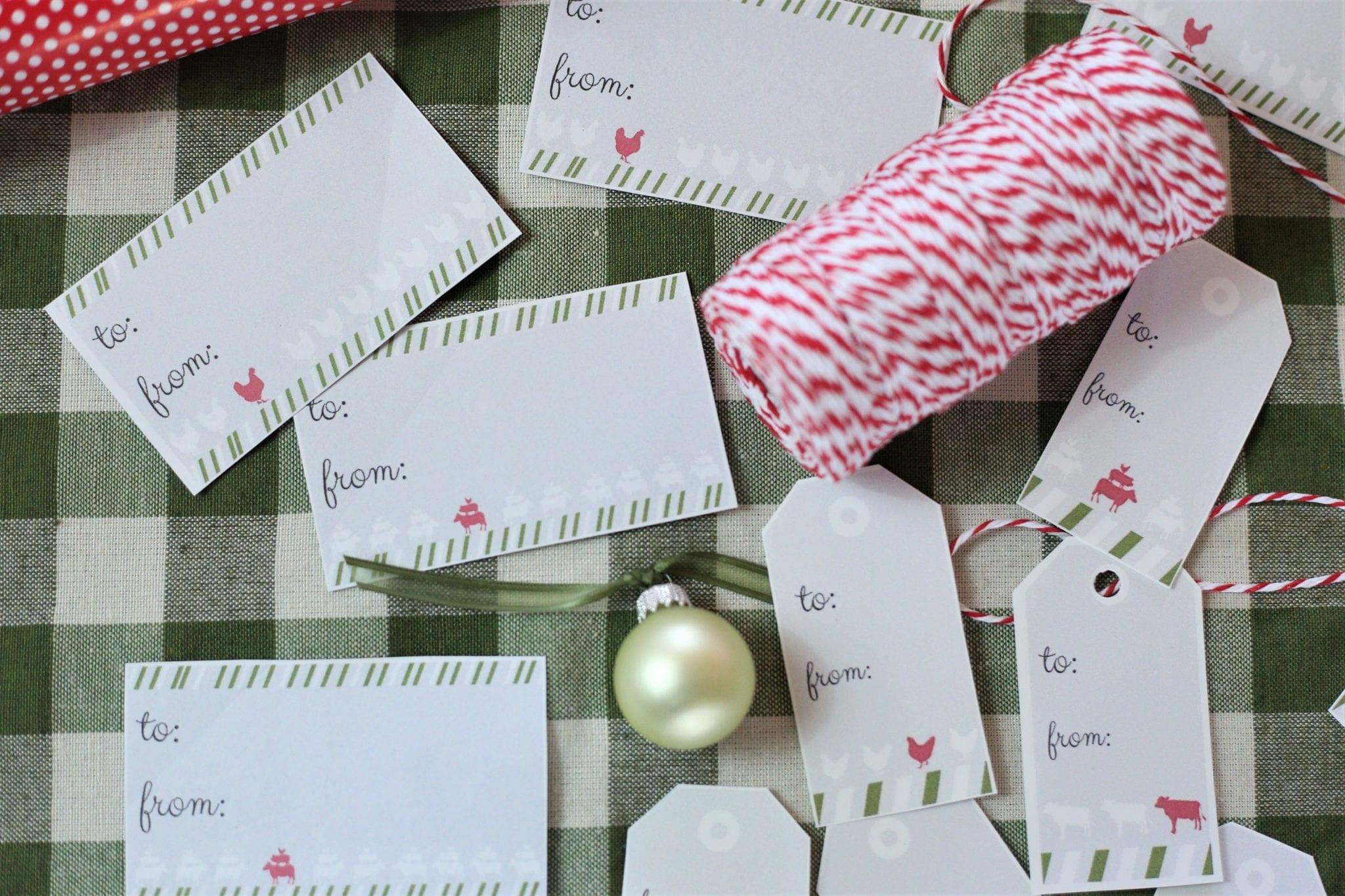 Farmhouse Christmas labels