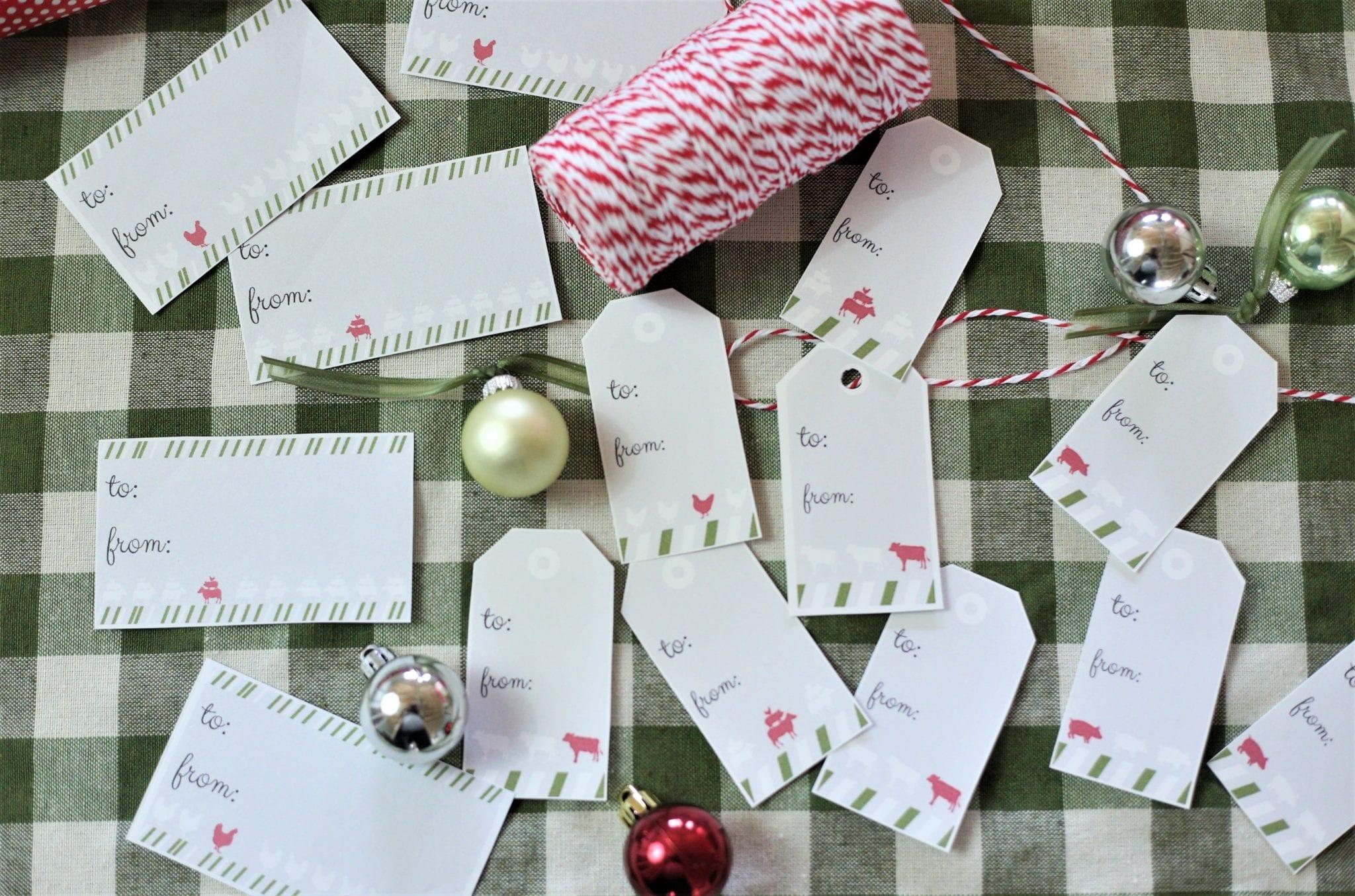 Free Printable Christmas Gift Tags–Farmhouse Style
