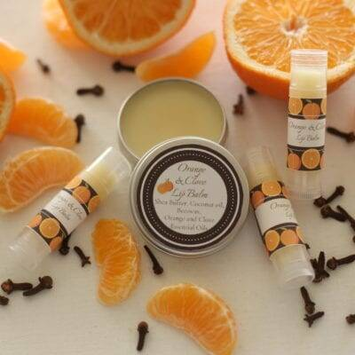 Handmade Orange and Clove Lip Balm