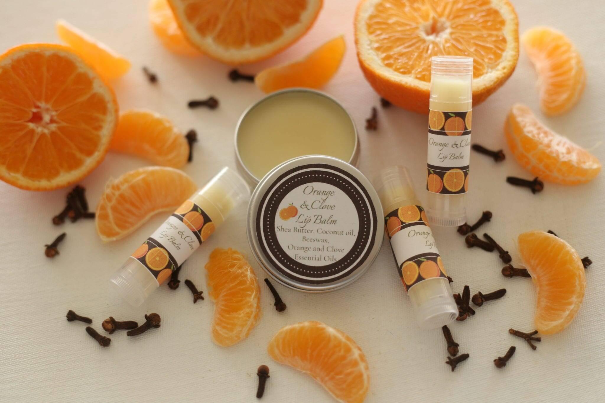 Handmade Orange and Clove Lip Balm
