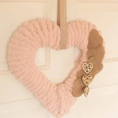 Sweet Heart Wreath–Handmade