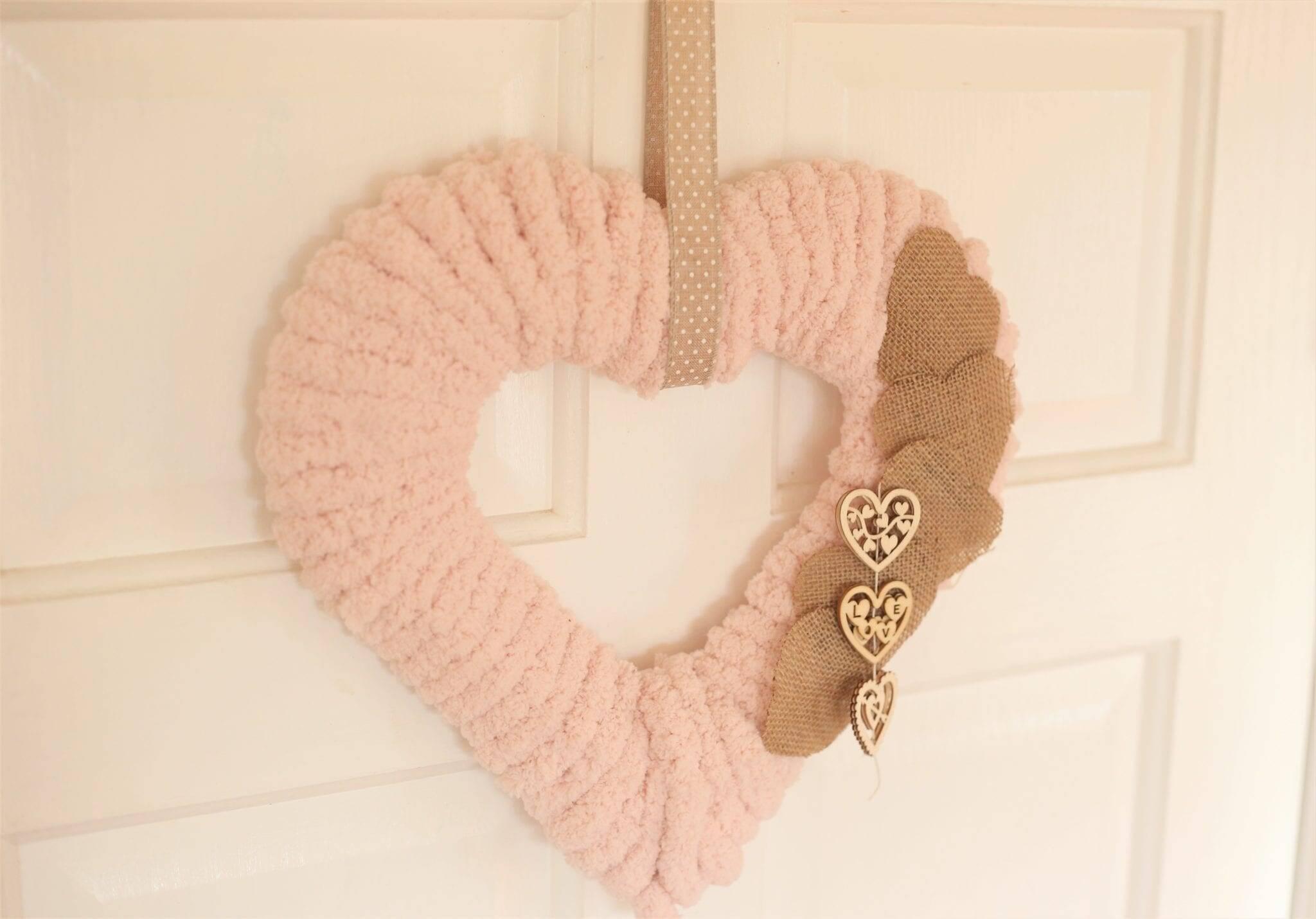 Sweet Heart Wreath–Handmade