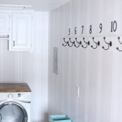 Large Family Small Mudroom/Laundry Room from Trashed to Treasured!