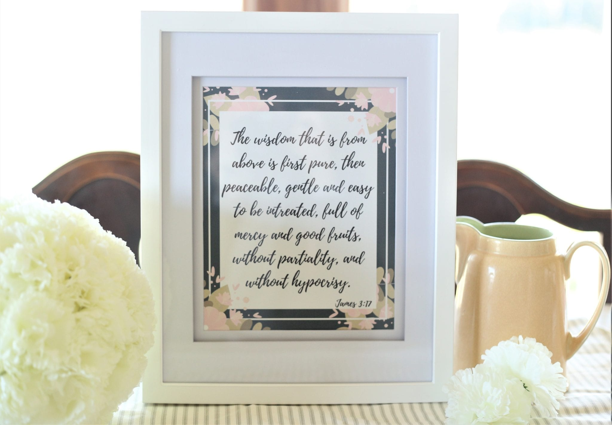 Wisdom From Above–Plus Scripture Printable
