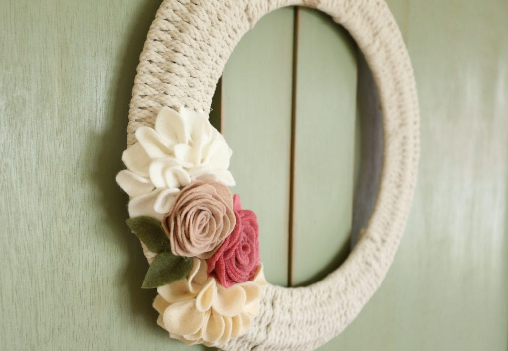 hanging woven wreath