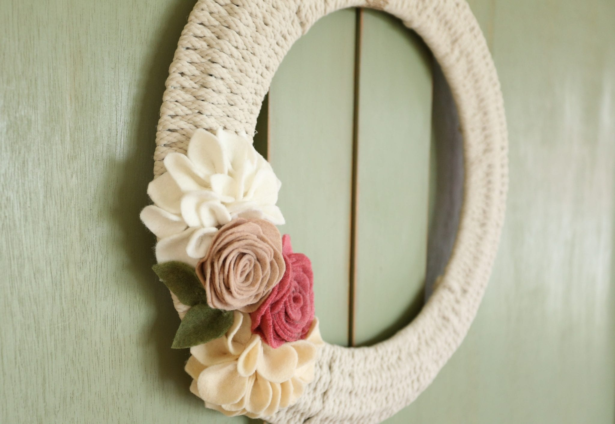 Woven Wreath–Dressed for Spring