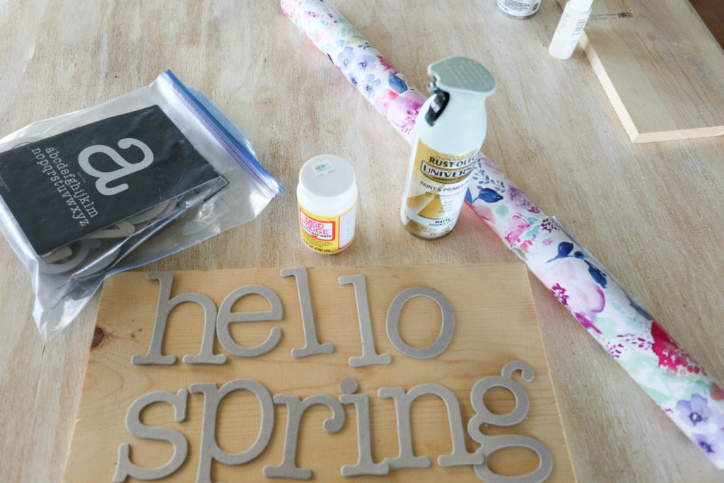 materials for handmade sign