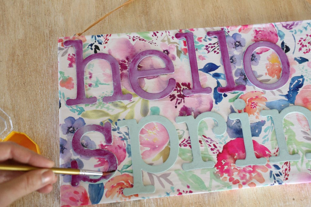 painting handmade sign