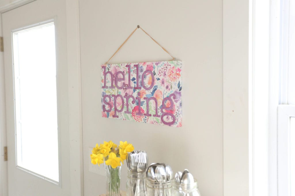 handmade sign for spring