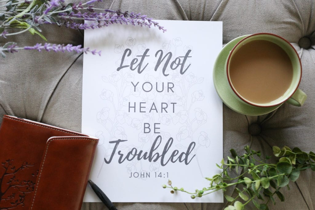 Let not your heart be troubled printable