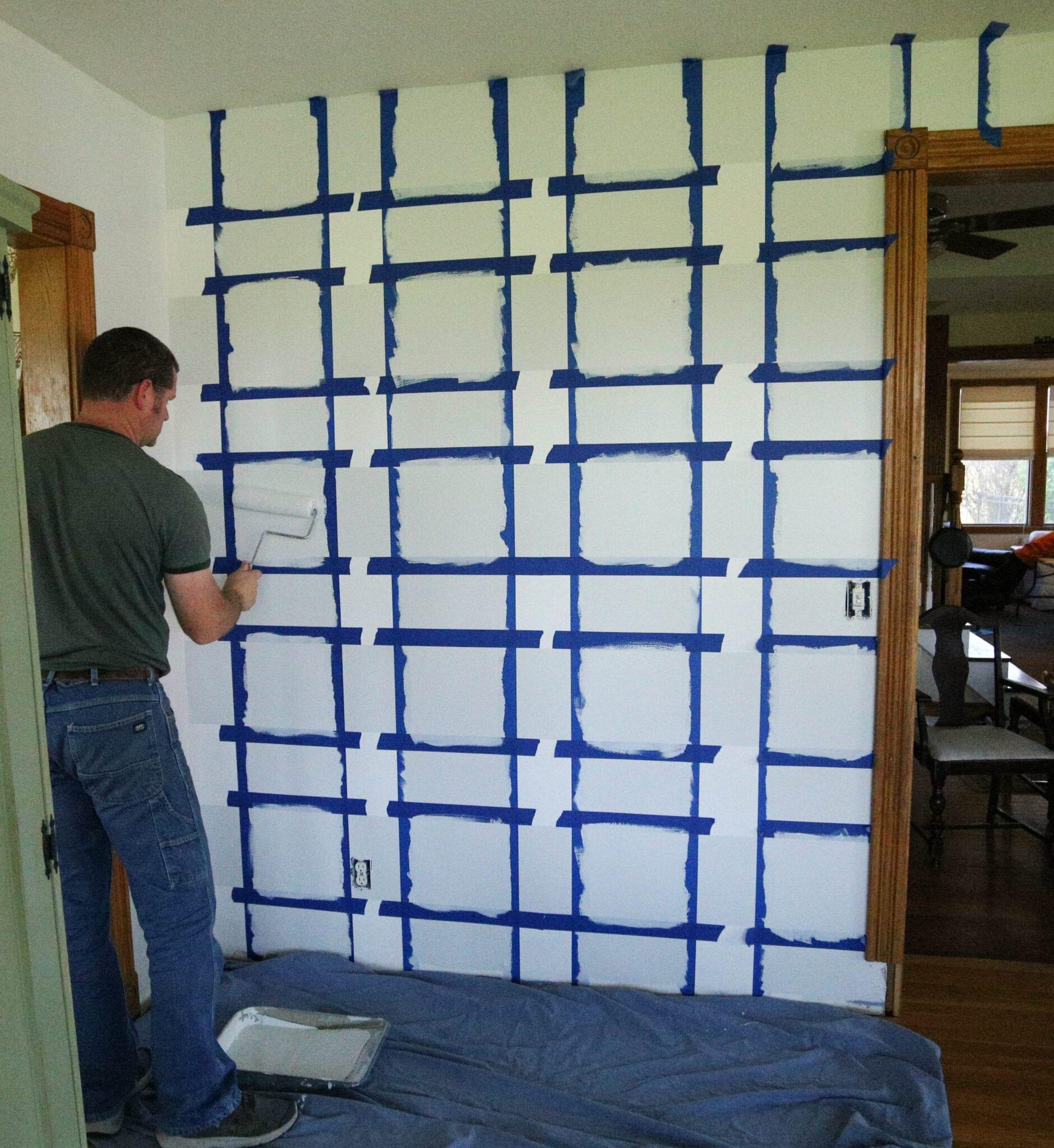 Painting final squares buffalo checks