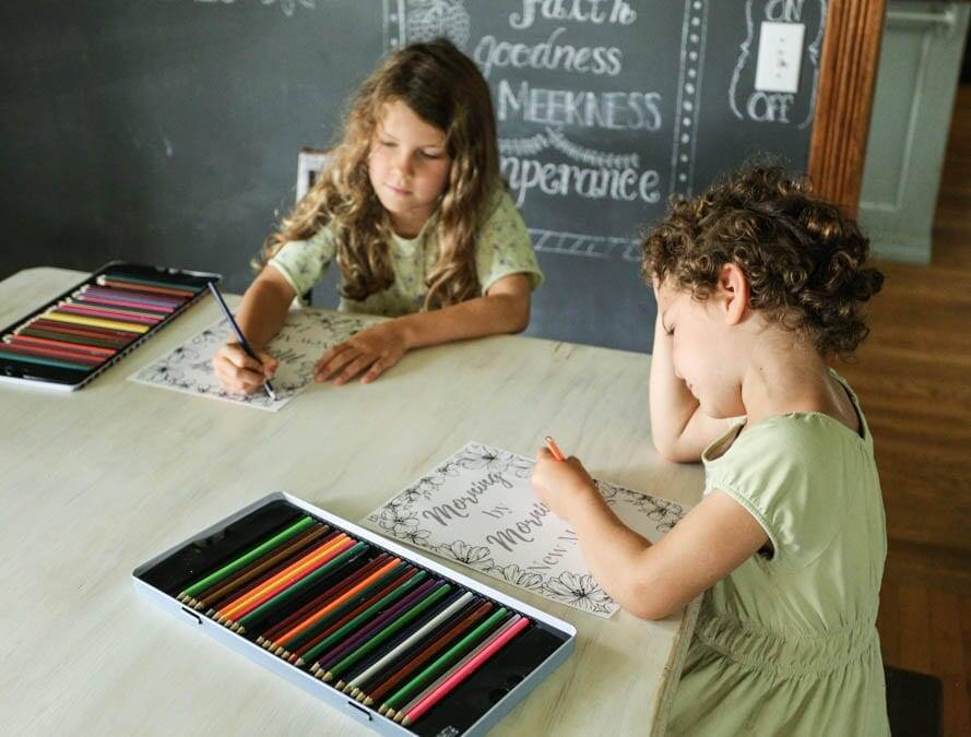girls coloring