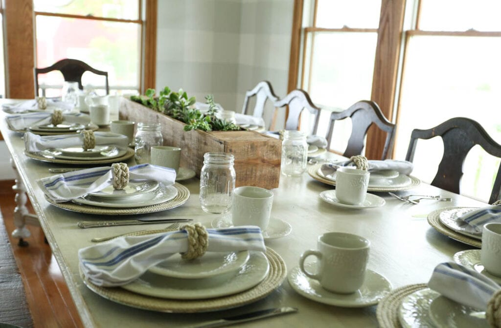 handmade farmhouse table setting
