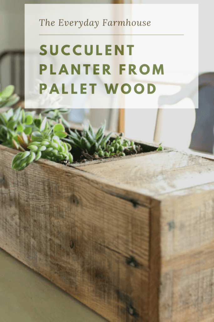 pallet wood succulent planter pin