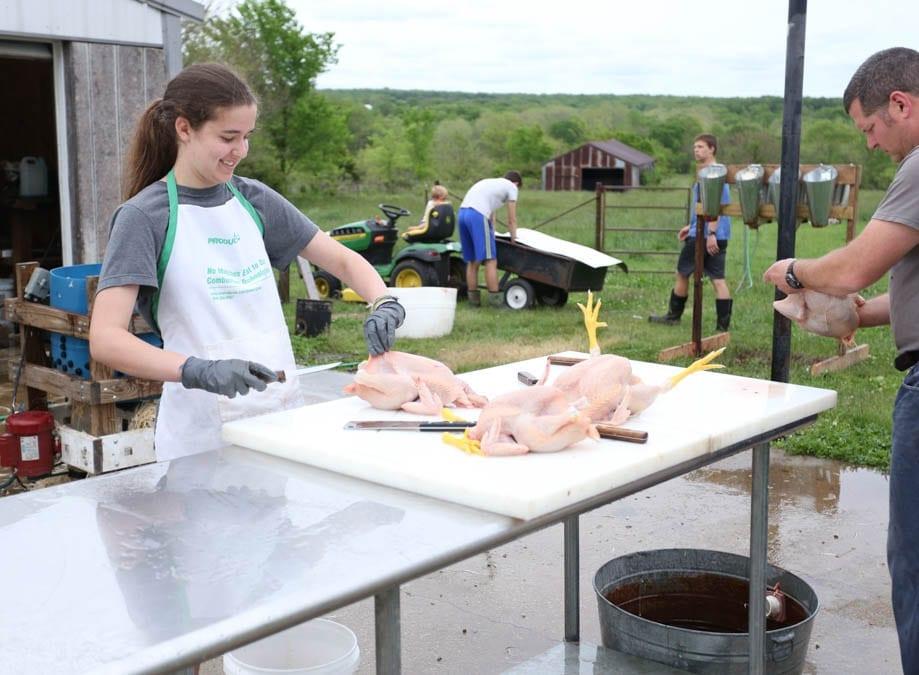 girl homestead work